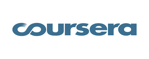 Coursera Logo. Coursera is one of the learning platforms that provides online Tracks in AAL | African App Launchpad initiative.