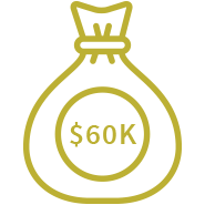 Money Prize Icon. AAL Cup Competition provides $60 K as a money prize for winners.