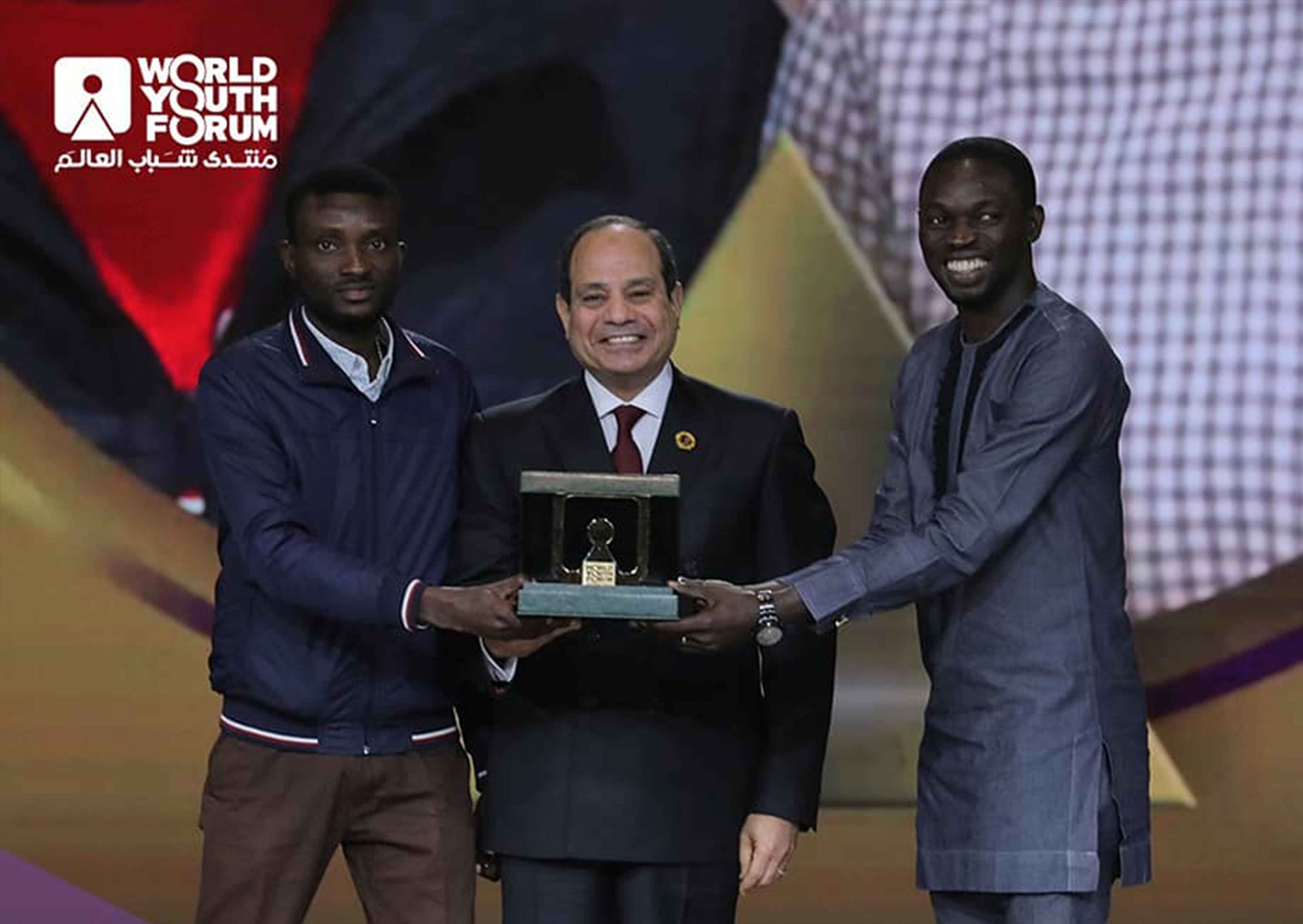 Egyptian President honours African App Launchpad Cup winner in WYF 2019.