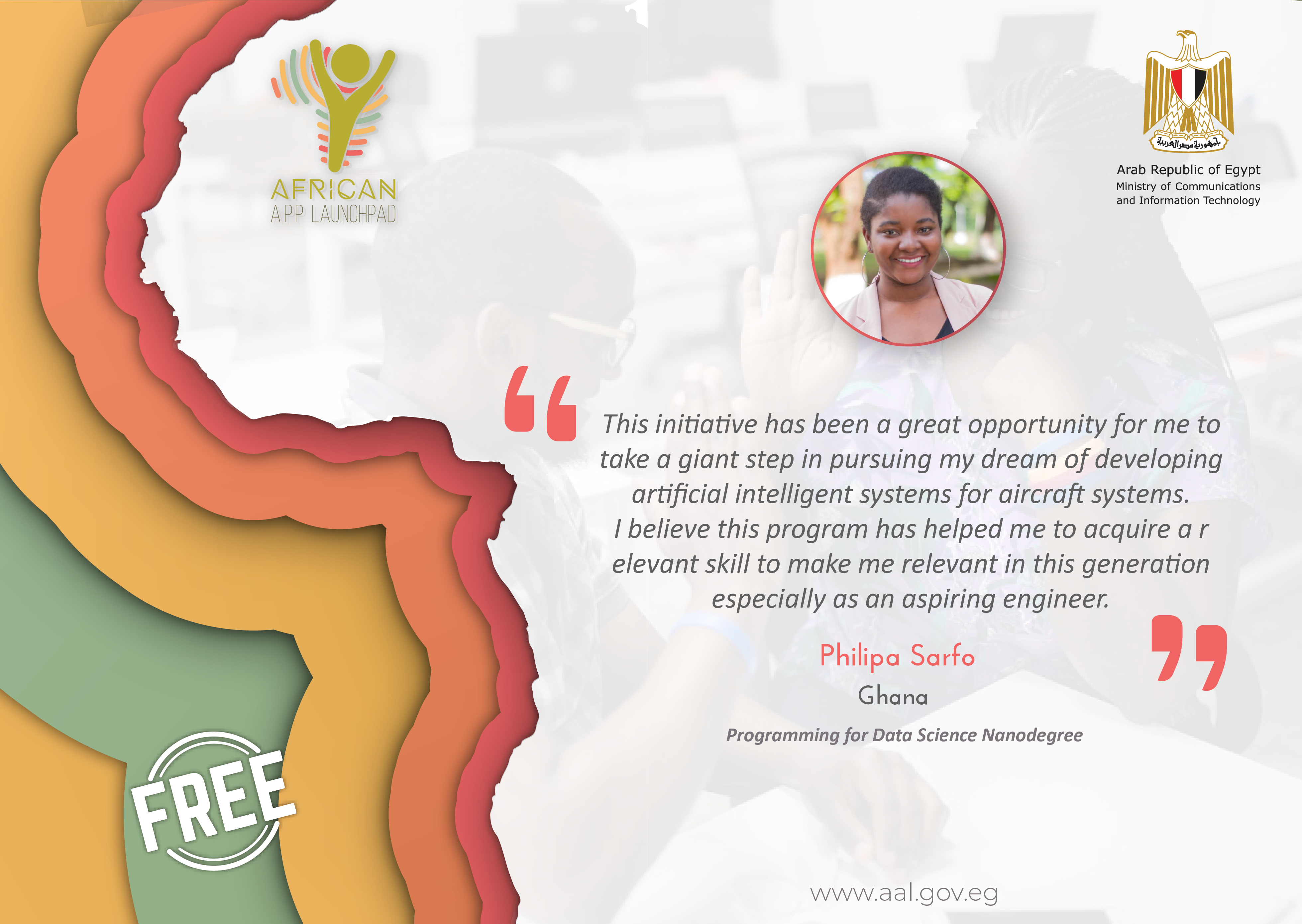 AAL AI Programming with Python Nanodegree Graduate's Testimonial from Ghana.