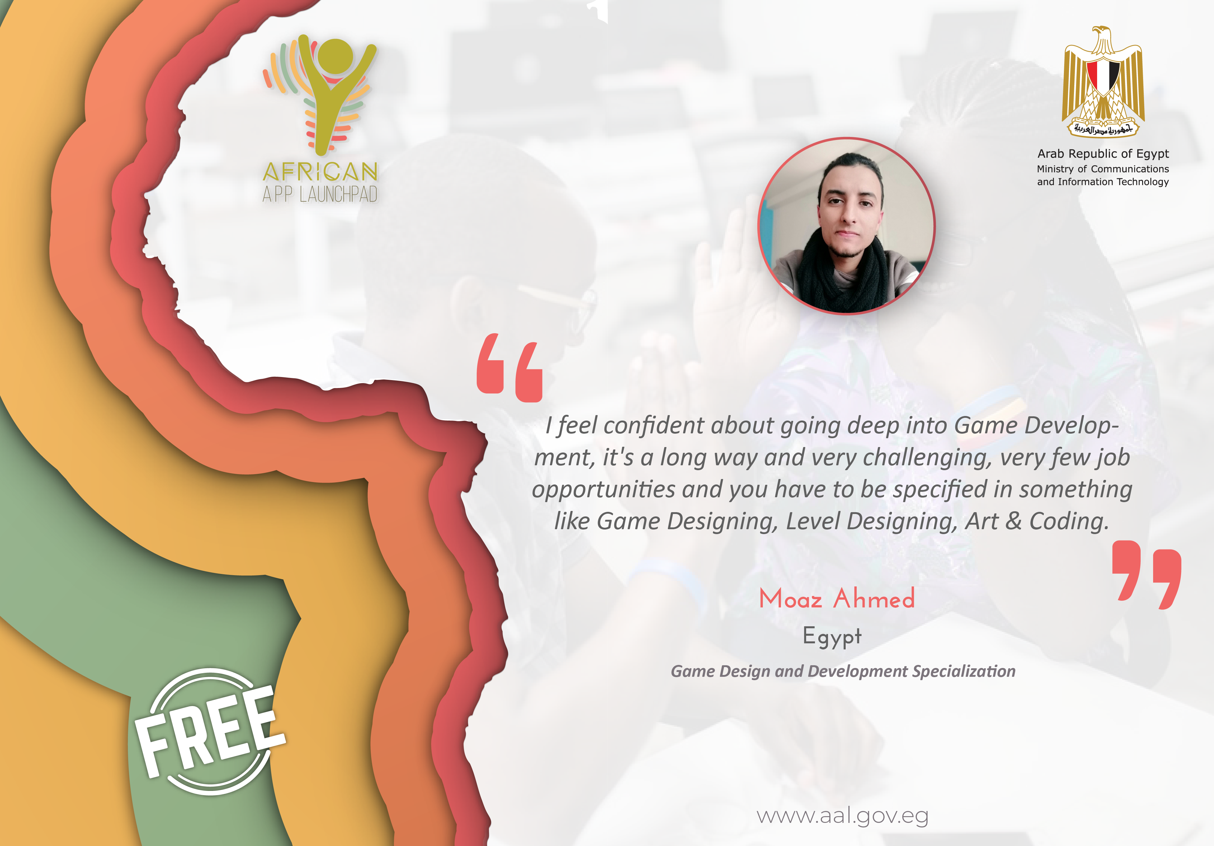 AAL Coursera Game Design and Development Specialization Graduate's Testimonial from Egypt.